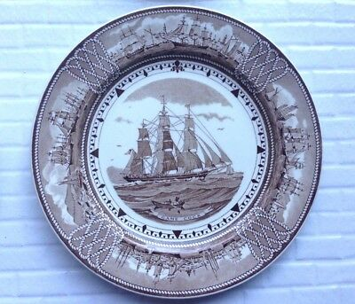 Wedgwood ~ The American Clipper Ship Plates * GAME COCK * sehr schöner Zustand!
