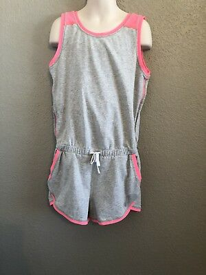 ivivva By Lululemon Grey And Neon Pink Romper. Girls Size 10