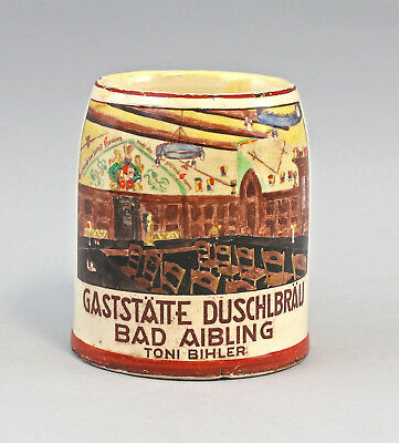 8248007 Beer Mug Duschl Bräu Bad aiblingen Hand Painted