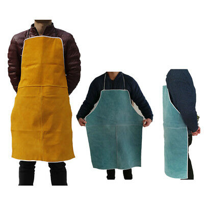 Welder Apron Welding Protect Apparel Cowhide Leather Fire Resistant 2 Colors