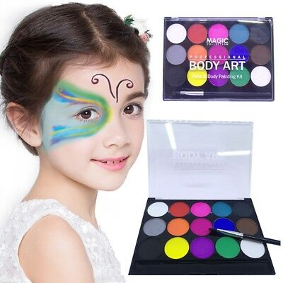 World Cup Water-soluble body paint pigments Professional Face Paint Kit 15 T1J6