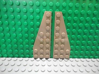 LEGO 50 NEW DARK TAN WEDGES 8 X 3 DOT WING PIECES RIGHT ONLY
