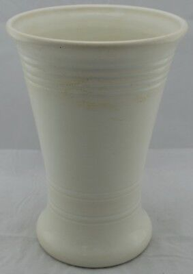 """Bauer Pottery of Los Angeles - 10"""" Ringed White Vase"""