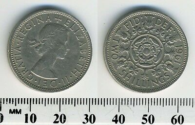 Great Britain 1961 - 1 Florin (2 Shillings) Copper-Nickel Coin - Q. Elizabeth II