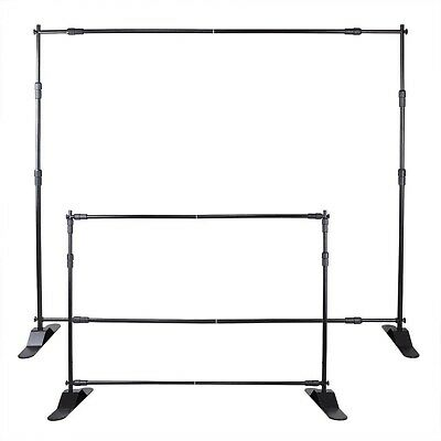 Step and Repeat 8'x8' Banner Stand Adjustable Telescopic Trade Show Backdrop BY