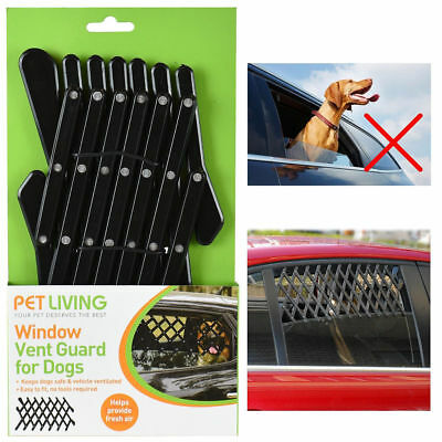 New Mesh Dog Pet Travel Window Vent Guard Rear Car One Size Universal Adjustable