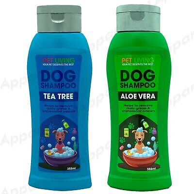 500ml Pet Dog Grooming Shampoo ALOE VERA & TEA TREE Suitable Wash For All Dogs