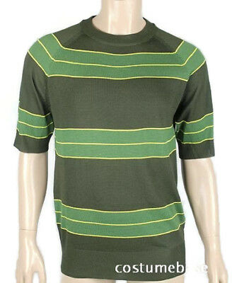 Kurt Cobain Sweater Green striped Shirt Costume Nirvana Smells Like Teen Spirit
