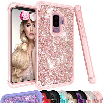 For Samsung Galaxy S9 / S9+ Plus Bling Glitter Rhinestone Hard Phone Case Cover