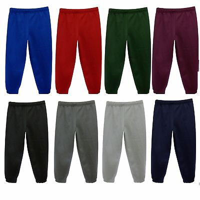 Kids Boys Girls Childrens School PE Fleece Tracksuit Trousers Jogging Bottoms