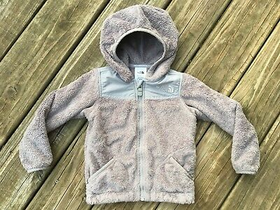 The North Face Infant Oso Grey Fuzzy Hooded Jacket Size 18-24 Months