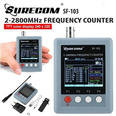 SF-103 Portable Wireless Frequency Counter Meter 2MHz-2800MHz TFT Color Display