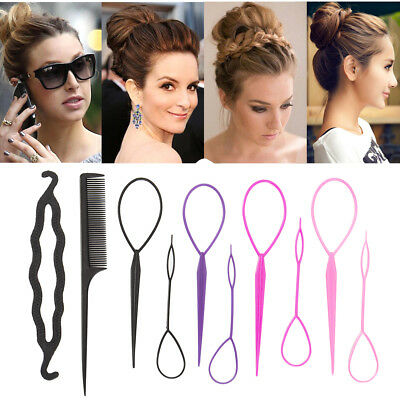Hair Styling Tools Bun Topsy Tail Braid Ponytail Maker Comb DIY Accessories