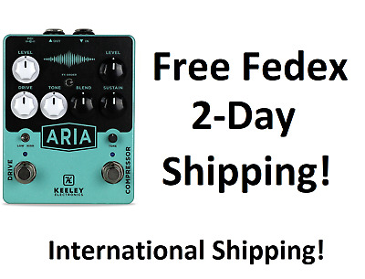 New Keeley Aria Compressor Drive Guitar Effects Pedal