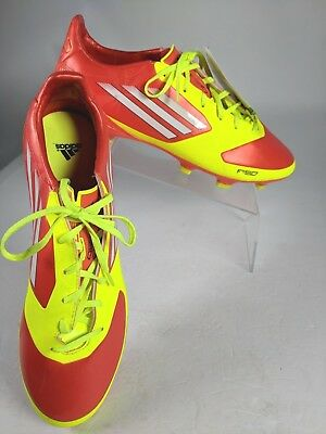 low priced 13ee5 e0faf Adidas Mens F30 TRX FG SYN Soccer Cleats Red Yellow High Energy V24845 SZ 10