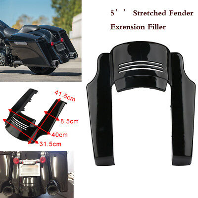 5'' Black Rear Stretched Fender Extension Filler For Harley Touring Bike 14-17