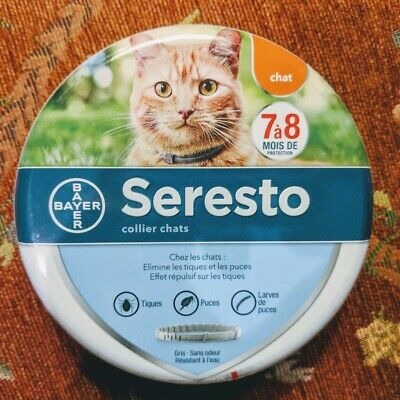 (1) SERESTO CAT Flea and Tick Collar for Cats all Weights 8 Month
