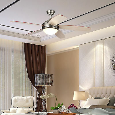 Ceiling Fan with Lights Remote Control antique pewter finish Contemporary 52''
