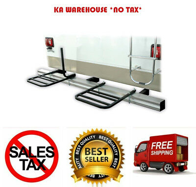 RV TWO BIKE Bumper Rack Camper Trailer Bicycle Carrier Solid