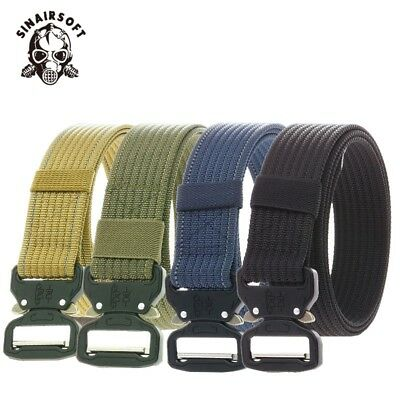 Tactical Men Heavy Duty Military Canvas Belt Outdoor Utility Waistband Adjust