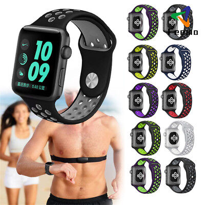 For Apple Watch 38/42 Replacement Soft Silicone Wrist Bracelet Sports Band Strap