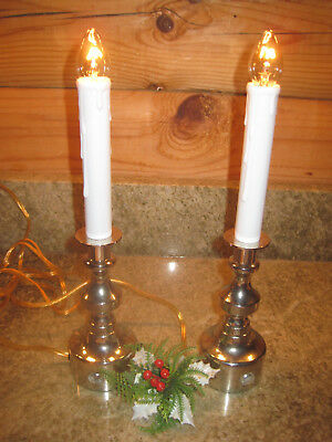 Set 2 Bethlehem Light Electric Christmas Window Candles Br Base Sensor Timer