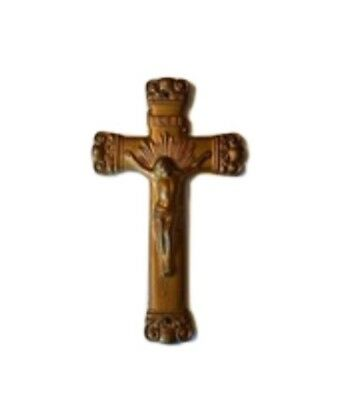 Old Vintage Holy Cross Iron Cast Catholic Holy Crucifix INRI