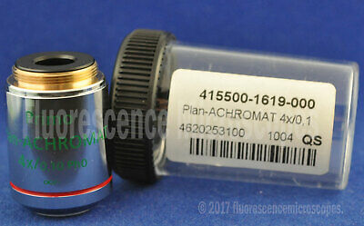 Zeiss Plan-Achromat 4x / 0.10 Ph0, Infinity / - Phase Microscope Objective