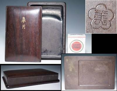 Korean Lee Royal Family Ink Stone signed 李王家美術工場 / W 13× D 19.4× H 3.5[cm]