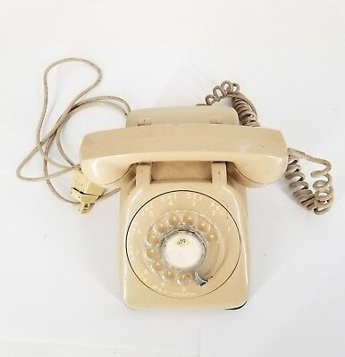 Monophone ~ Automatic Electric ~ Vintage rotary antique metal phone Tan Cord