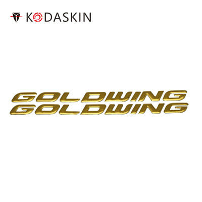 KODASKIN for Honda GL1800 GOLDWING Motorcycle Gold Emblem Sticker Decal 3D Raise