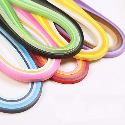 6 Colors Mixed Handcraft Origami Paper 120 Strips Quilling Paper DIY Decor