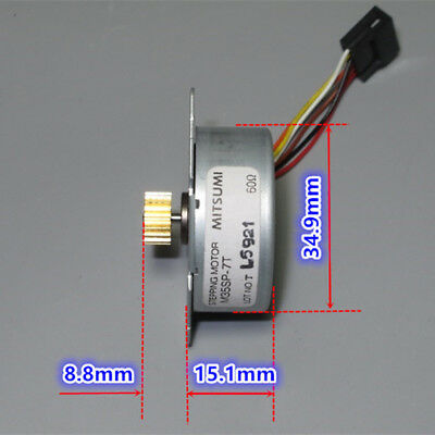 MITSUMI 35mm Round Thin 2-phase 6-wire Stepper Motor Stepping Motor 7.5°/Step