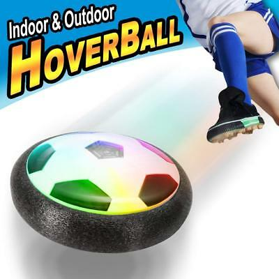 Children Play Air Power Soccer Disk With Led Ball Light Up Football Hover Disc