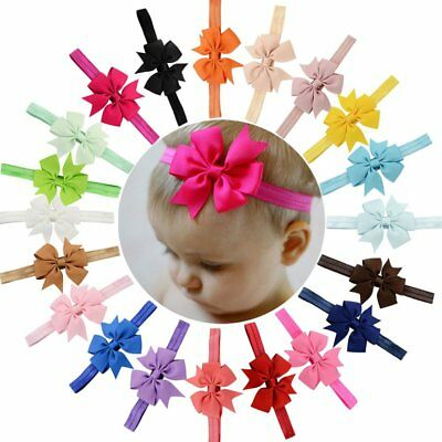 20 pcs Baby Girls Headbands Grosgrain Ribbon Boutique Hair Bow for Teens/Toddler