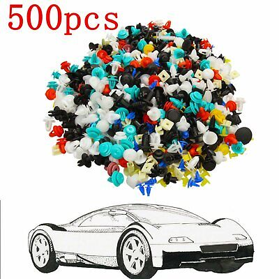 500*Car Door Panel Trim Fenders Bumper Rivet Retainer Push Pin Clips Mixed