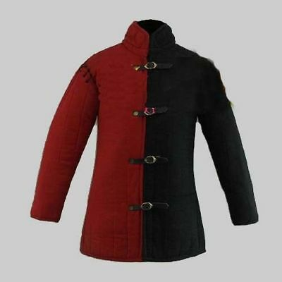 Thick Padded Red Fighting Arming Medieval Padded Coat Jacket  Gambeson Type
