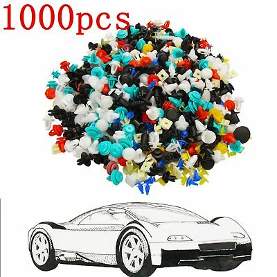 1000*Car Door Panel Trim Fenders Bumper Rivet Retainer Push Pin Clips Mixed
