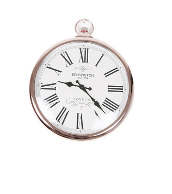 Large ROUND COPPER KENSINGTON London pocket watch style WALL CLOCK 42CM Decor
