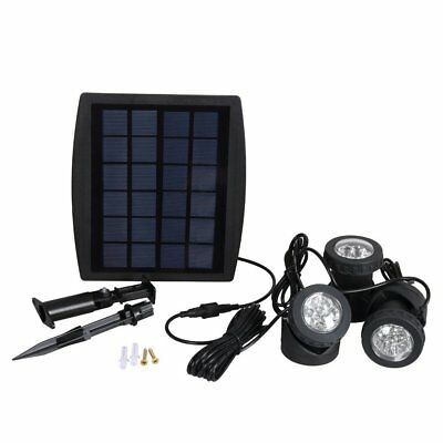 RGB Solar Powered LED Spot light Landscape Lawn Outdoor Security Walkway Lamp