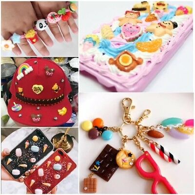 DIY Resin Charms Beads Accessories Phone Shell Jewelry Slime Filler Doll House