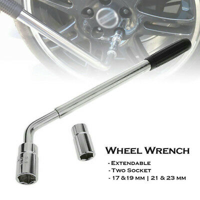 Extendable Wheel Telescopic Brace Socket Tyre Nut Wrench 17 19 21 23mm
