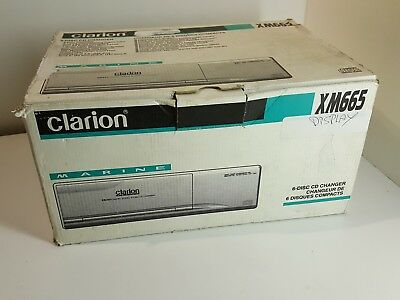 Clarion XM665 Marine Digital Audio 6-Disc CD Compact Disk Changer Player Boat