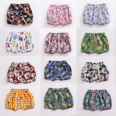 Newborn Infant Baby Boy Girl Kids Cotton Pants Shorts Bottoms PP Bloomers 0-18M