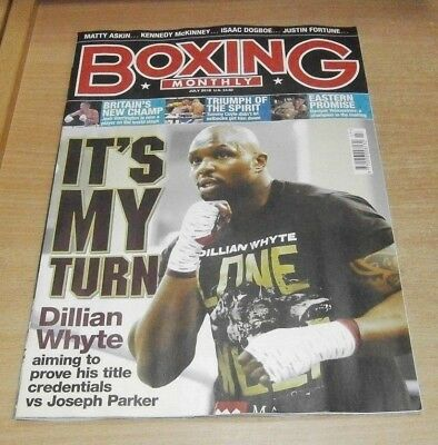 Boxing Monthly magazine JUL 2018 Dillian Whyte, Matty Askin, Isaac Dogboe & more