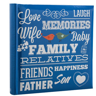 Family, 6 x 4 Holds 200 Photos  Slip In Memo Photo Album Picture Blue PF200BF