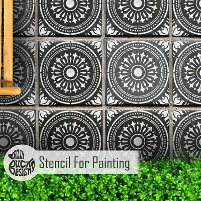 VERONA Tile Stencil - Floor Wall Stencil for Painting
