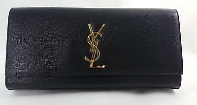 387d5205b625 SAINT LAURENT CASSANDRE Leather clutch bag pochette - $899.00 | PicClick