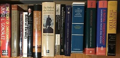 Lot of used theology & philosophy books (most very good, some like new or good)
