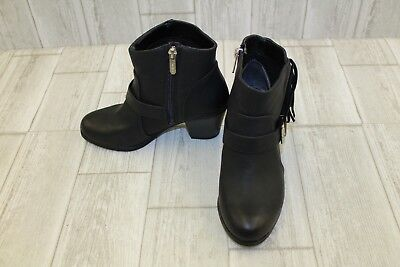 f1fa57c451c5 SAM EDELMAN MARE Lace Up Ankle Boots Leather Size 6M Women s Black ...